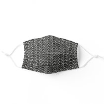 Silver Punk Chain Link Style Pattern Adult Cloth Face Mask