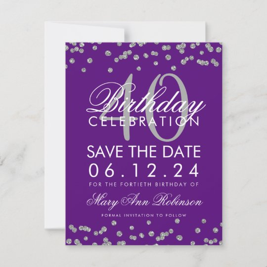 18th Birthday Save The Date Cards