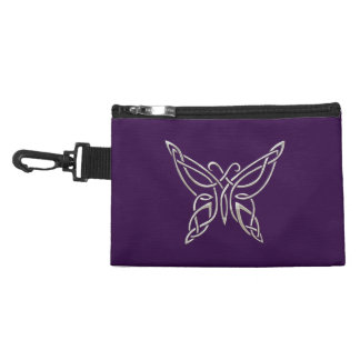 Silver Purple Celtic Butterfly Curling Knots Accessories Bag