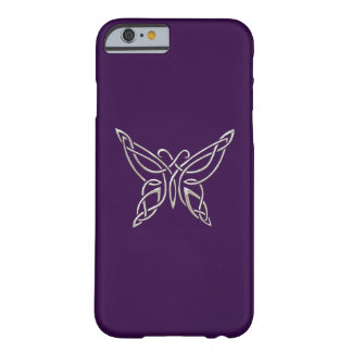 Silver Purple Celtic Butterfly Curling Knots Barely There iPhone 6 Case