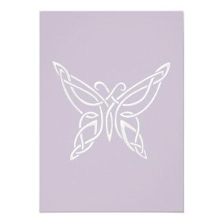 Silver Purple Celtic Butterfly Curling Knots Card