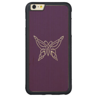 Silver Purple Celtic Butterfly Curling Knots Carved® Maple iPhone 6 Plus Bumper Case