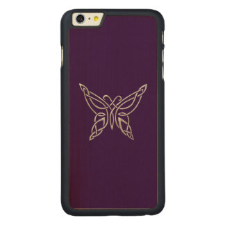 Silver Purple Celtic Butterfly Curling Knots Carved® Maple iPhone 6 Plus Case