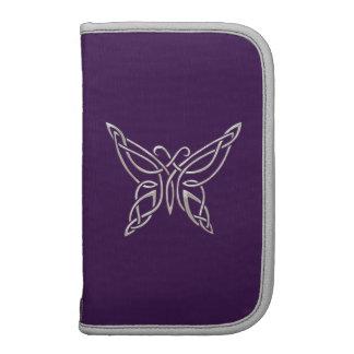Silver Purple Celtic Butterfly Curling Knots Planner