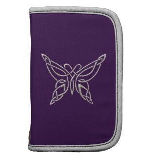 Silver Purple Celtic Butterfly Curling Knots Folio Planners