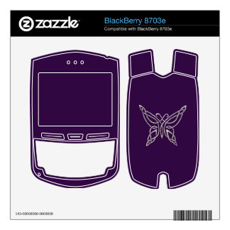 Silver Purple Celtic Butterfly Curling Knots Decals For BlackBerry