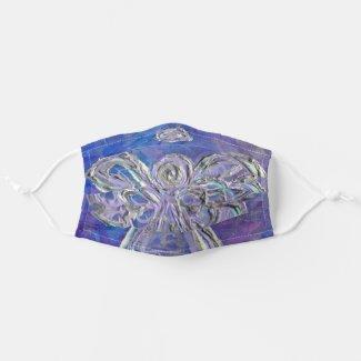 Silver Purple Guardian Angel Art Custom Face Masks