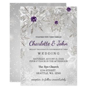 Purple And Silver Wedding Invitations & Announcements | Zazzle