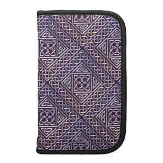 Silver Purple Square Shapes Celtic Knots Pattern Planner