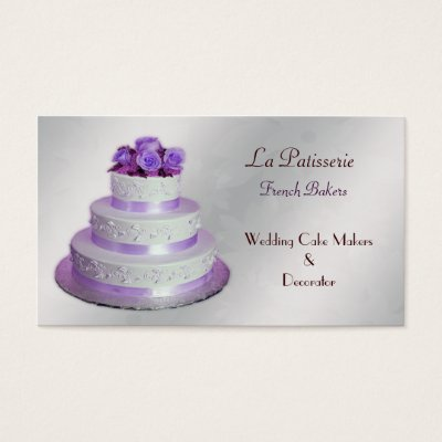 Cake Makers Business Cards Zazzle Com