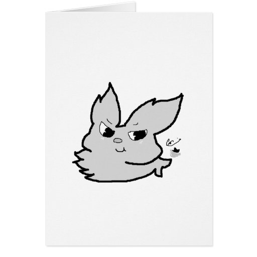 Silver Rabbit Greeting Card