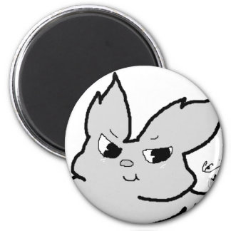 Silver Rabbit Magnet