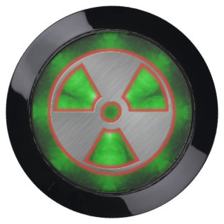 silver radioactive sign 2 USB charging station