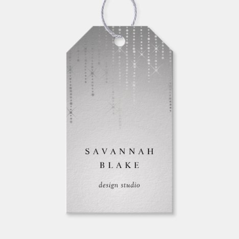 Silver Rain Custom Business or Boutique Tags