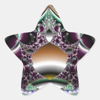 Silver Reflection Star Sticker