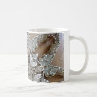 Silver Rhinestones Steampunk Mandala Mug