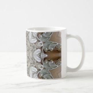 Silver Rhinestones Steampunk Mandala Coffee Mugs