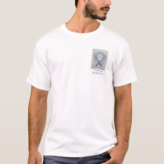Silver Ribbon Angel Cause Awareness Custom Shirts