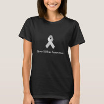 Silver Ribbon Awareness Women's Shirt