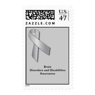 Silver Ribbon: Brain Disorders and Disabilities Postage