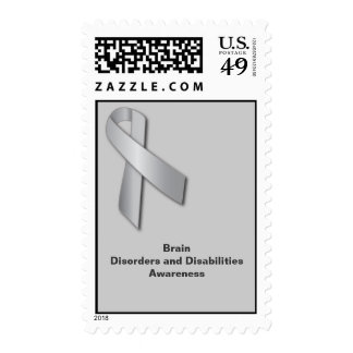 Silver Ribbon: Brain Disorders and Disabilities Stamps