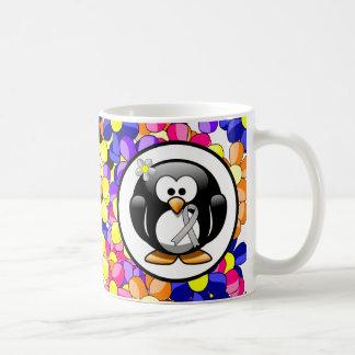 Silver Ribbon Penguin Coffee Mug