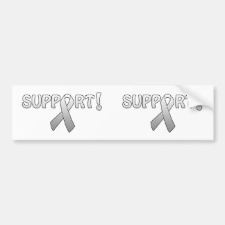 Silver Ribbon Support Bumper Sticker