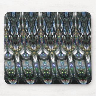 Silver Ribbon Waves Mouse Pad