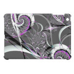 Silver Ribbons Abstract Fine Art Cover For The iPad Mini