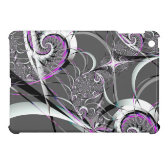 Silver Ribbons Abstract Fine Art iPad Mini Case