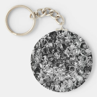 Silver ring background texture key chain