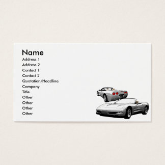 Silver Roadster Business Card