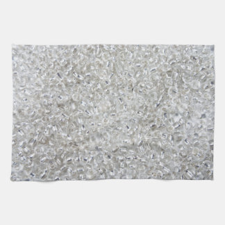 Silver Rocaille Seed Beads Hand Towels