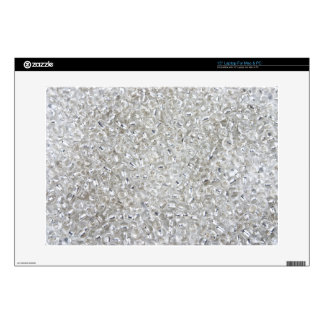 Silver Rocaille Seed Beads Laptop Skins