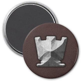 Silver Rook - Zero Gravity Chess (SLS) Fridge Magnets