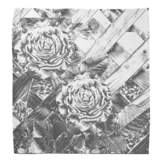 Silver Rose Bandana