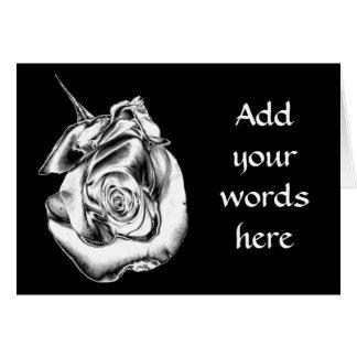 Silver Rose Bud Card