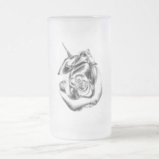 Silver Rose Bud Coffee Mugs