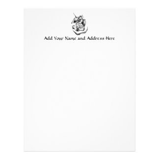 Silver Rose Bud Letterhead Template