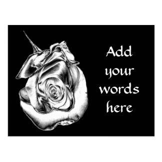 Silver Rose Bud Postcard