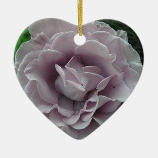 Silver Rose Ceramic Ornament