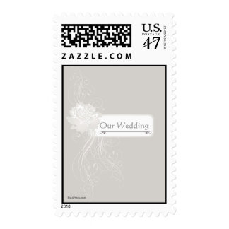 Silver Rose Postage Stamp