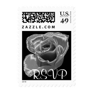 Silver Rose RSVP Stamp