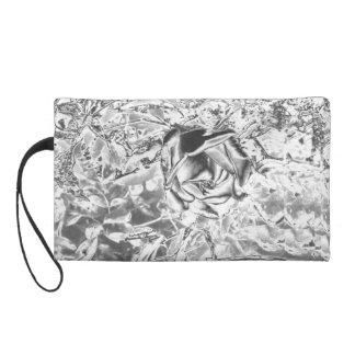 Silver Rose Wristlet