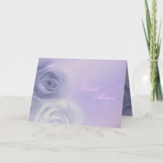 Silver Roses Bridal Shower card