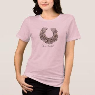 Silver Roses Horseshoe Tee Shirt