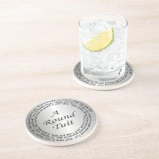 Silver Round Tuit Beverage Coasters