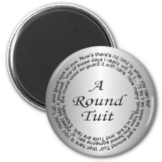 Silver Round Tuit Fridge Magnet