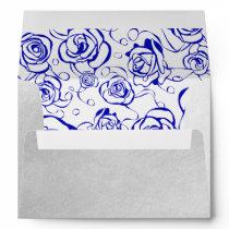 Silver & Royal Blue Invitation Envelopes
