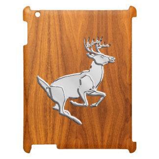 Silver Running Deer on Teak Decor Case For The iPad 2 3 4